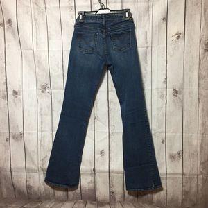 Levis Slight Curve Boot Cut Blue Jeans 4 Long